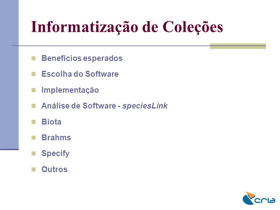Informatização de Coleções