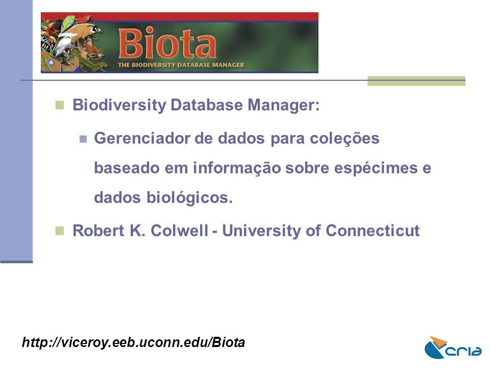 BIOTA Biodiversity Database Manager: