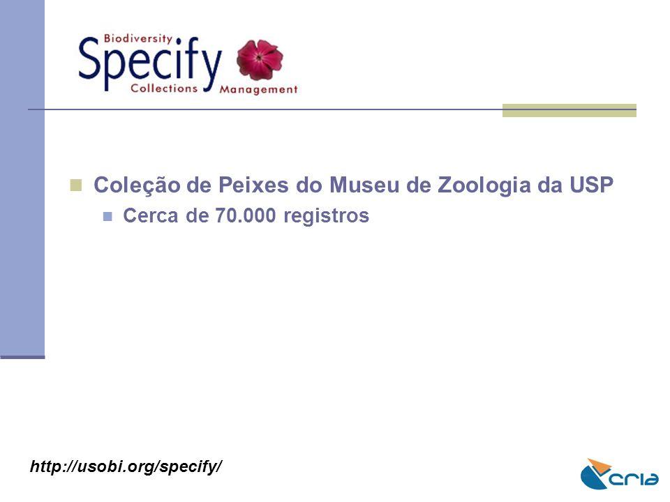 Coleção de Peixes do Museu de Zoologia da USP