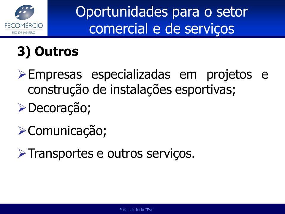 Oportunidades para o setor comercial e de serviços