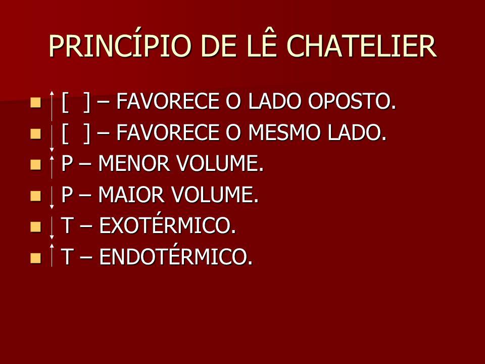 PRINCÍPIO DE LÊ CHATELIER