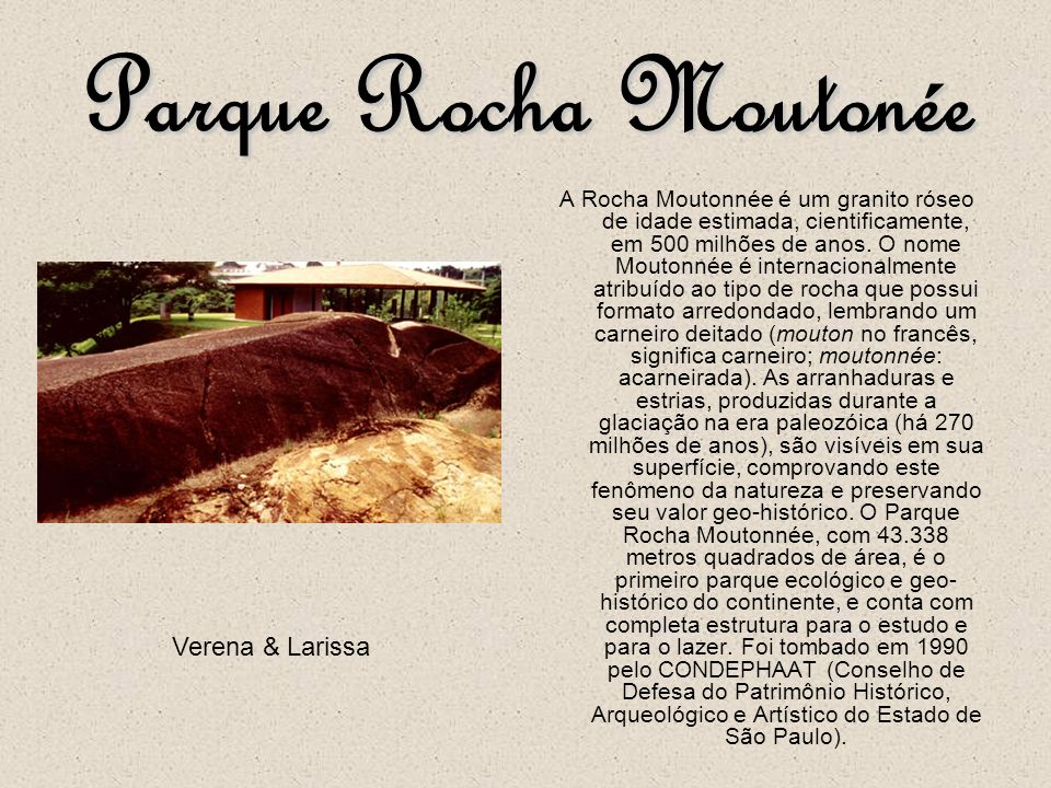 Parque Rocha Moutonée Verena & Larissa