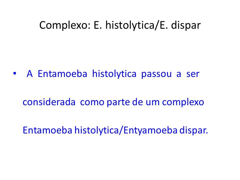 Complexo: E. histolytica/E. dispar