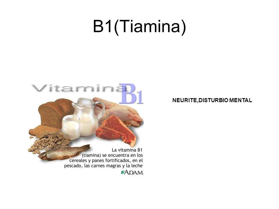 B1(Tiamina) NEURITE,DISTURBIO MENTAL