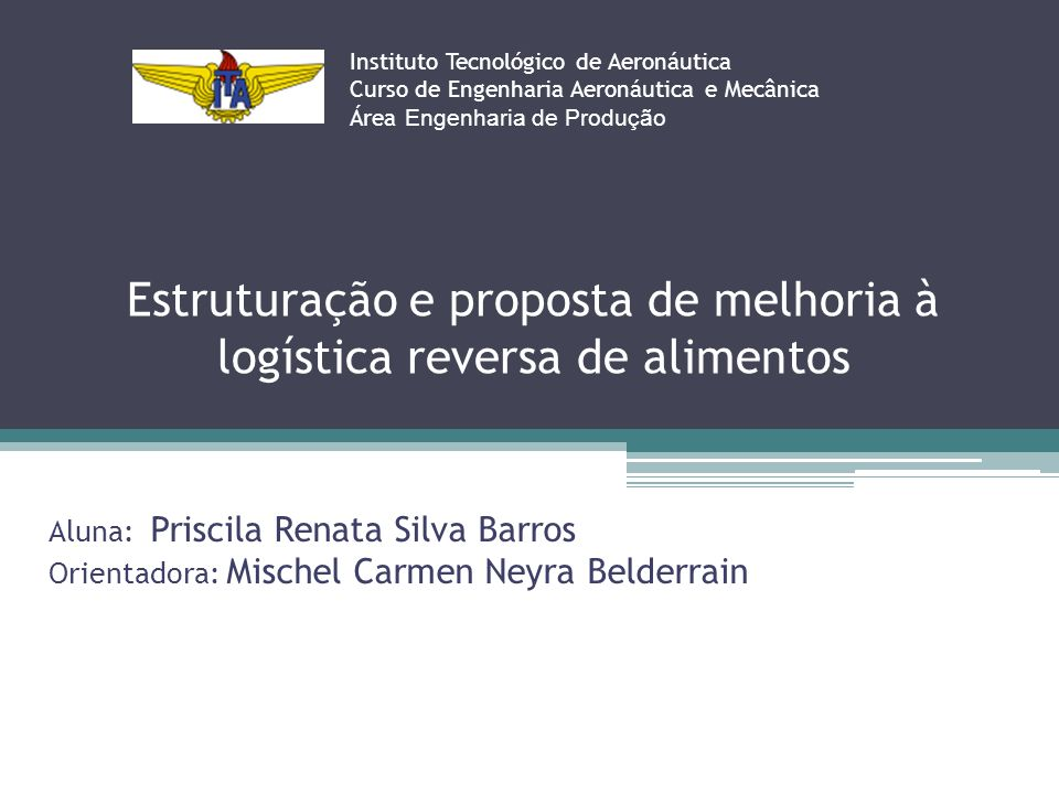 Estruturação e proposta de melhoria à logística reversa de alimentos