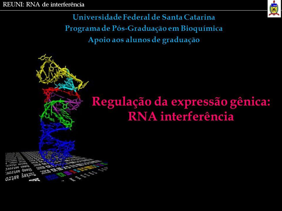 Regulação da expressão gênica: RNA interferência