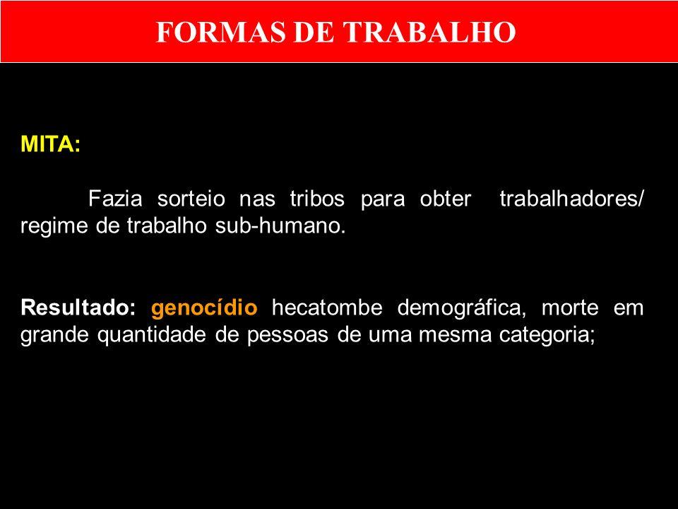 FORMAS DE TRABALHO MITA:
