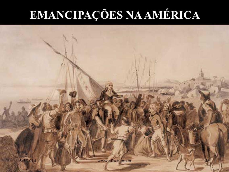 EMANCIPAÇÕES NA AMÉRICA