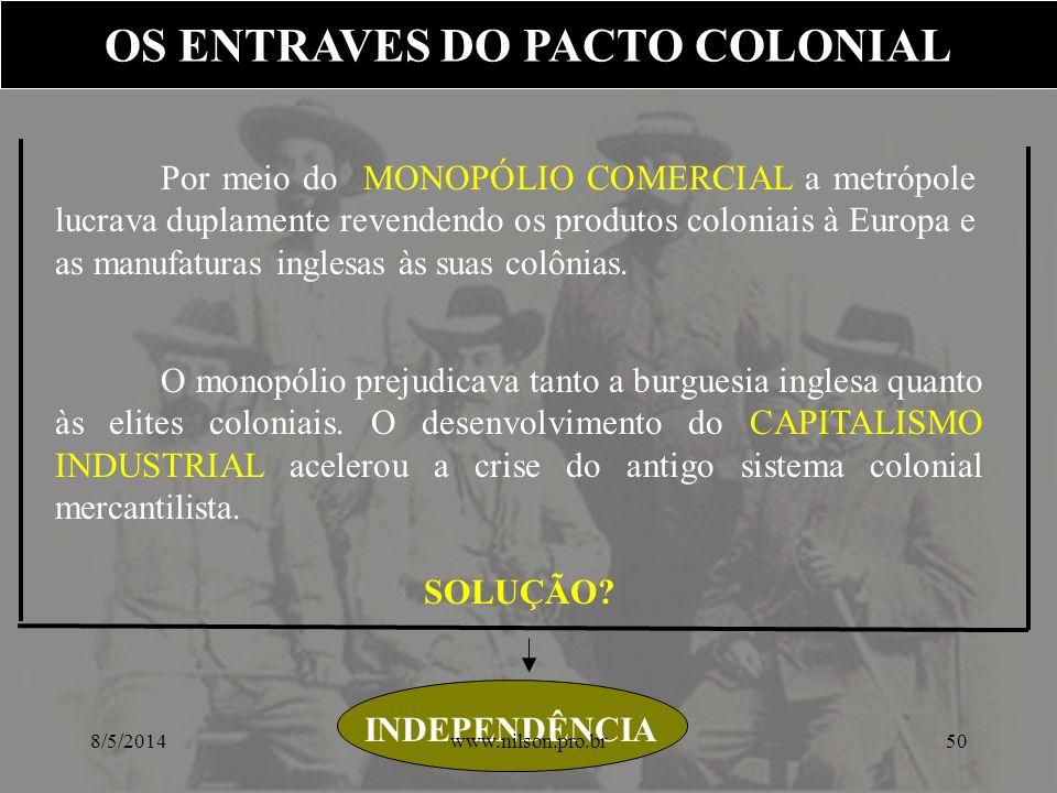 OS ENTRAVES DO PACTO COLONIAL