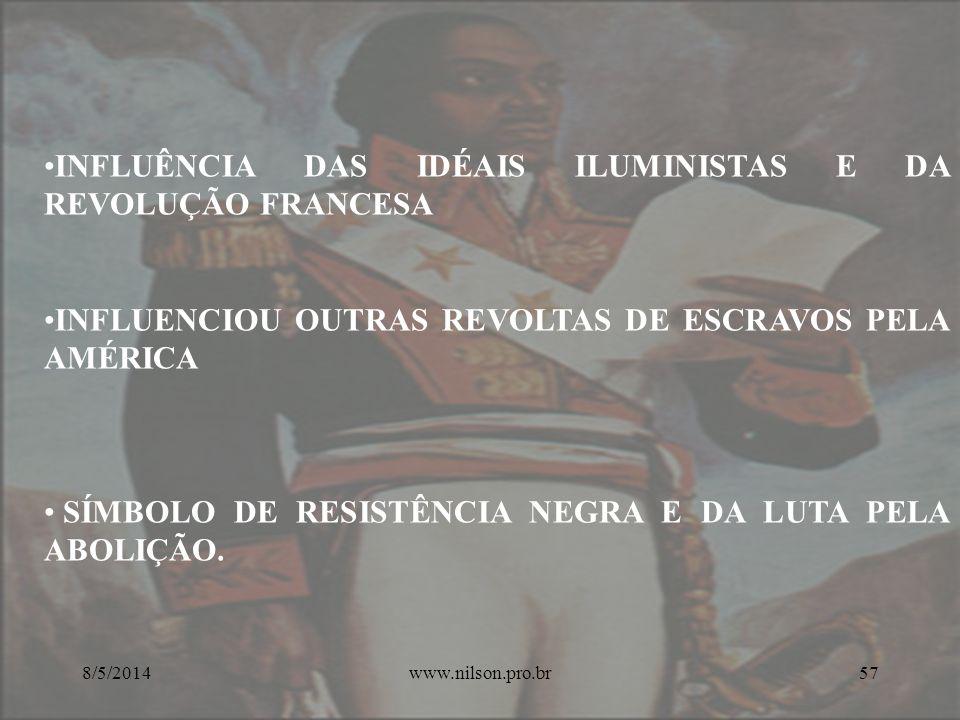 INFLUÊNCIA DAS IDÉAIS ILUMINISTAS E DA REVOLUÇÃO FRANCESA