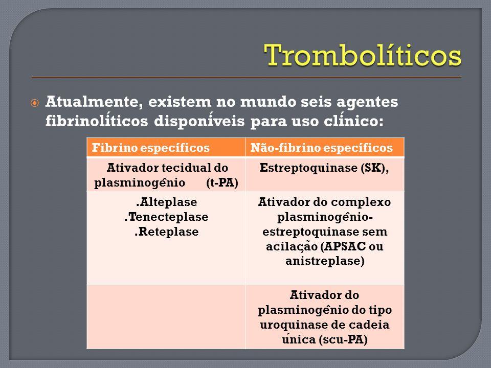 Ativador tecidual do plasminogênio (t-PA)
