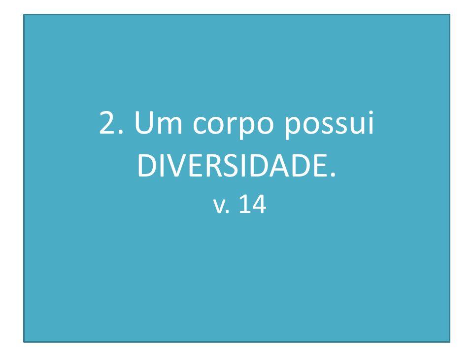 2. Um corpo possui DIVERSIDADE. v. 14