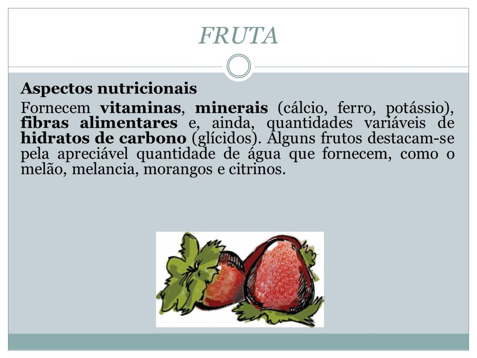 FRUTA Aspectos nutricionais