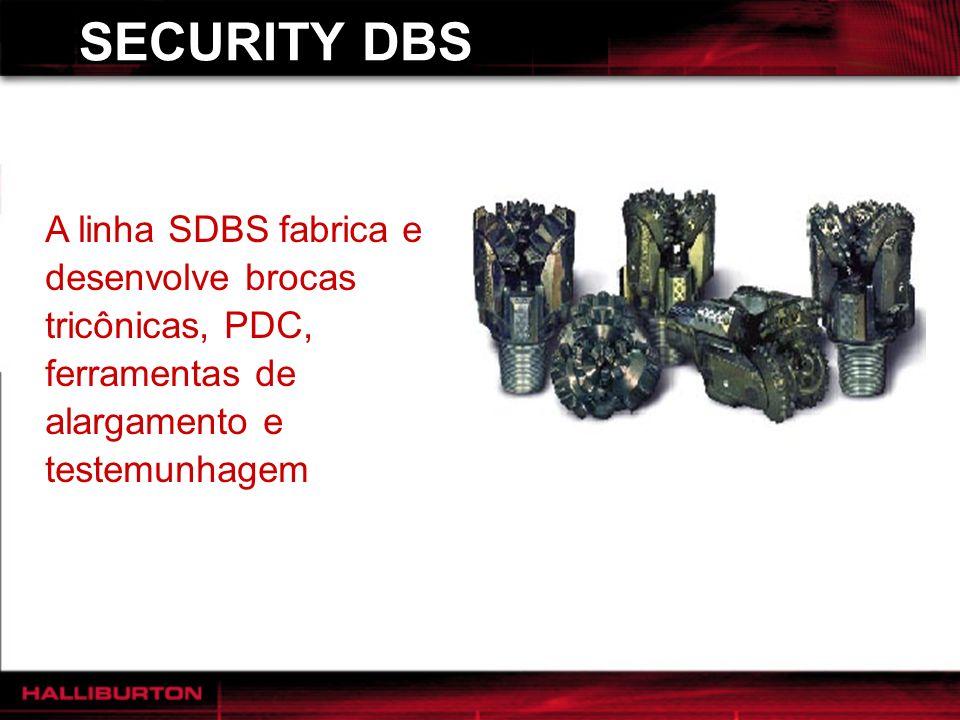 SECURITY DBS A linha SDBS fabrica e desenvolve brocas tricônicas, PDC, ferramentas de alargamento e testemunhagem.
