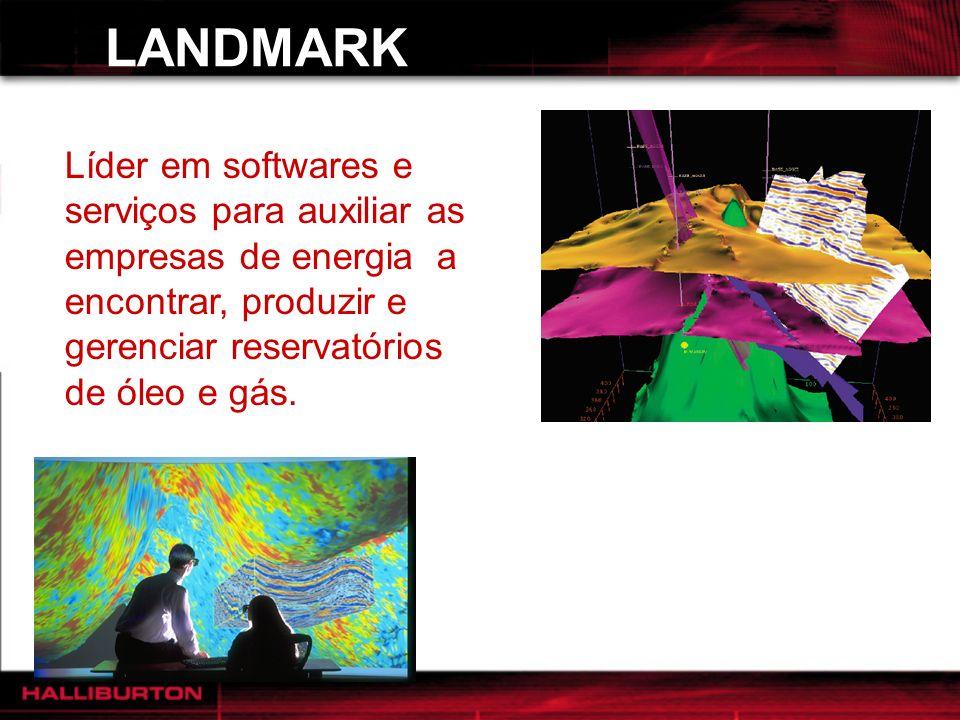 LANDMARK Líder em softwares e serviços para auxiliar as empresas de energia a encontrar, produzir e gerenciar reservatórios de óleo e gás.