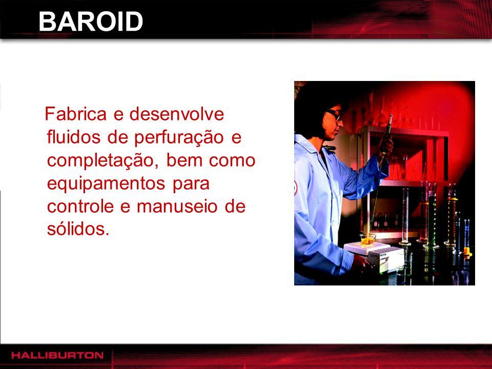 BAROID Fabrica e desenvolve fluidos de perfuração e completação, bem como equipamentos para controle e manuseio de sólidos.