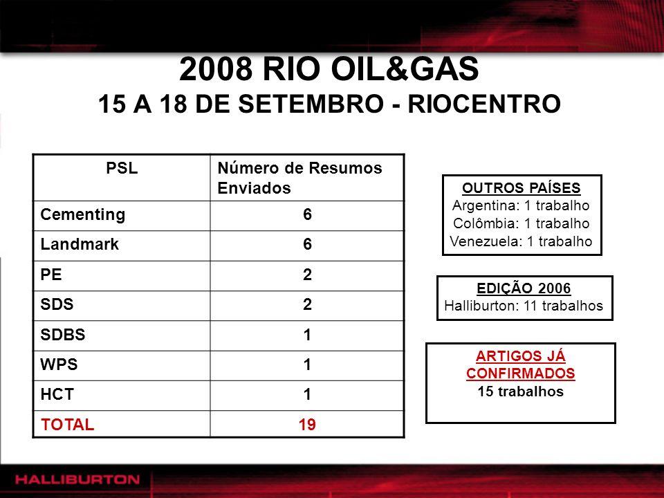 2008 RIO OIL&GAS 15 A 18 DE SETEMBRO - RIOCENTRO