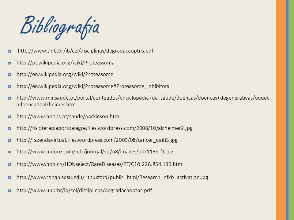 Bibliografia http://www.unb.br/ib/cel/disciplinas/degradacaoptns.pdf