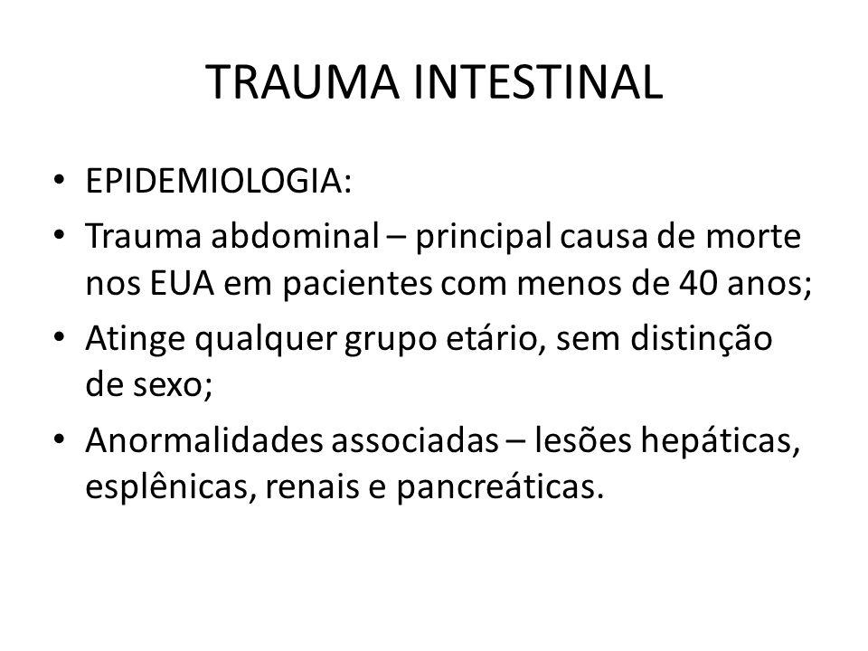 TRAUMA INTESTINAL EPIDEMIOLOGIA: