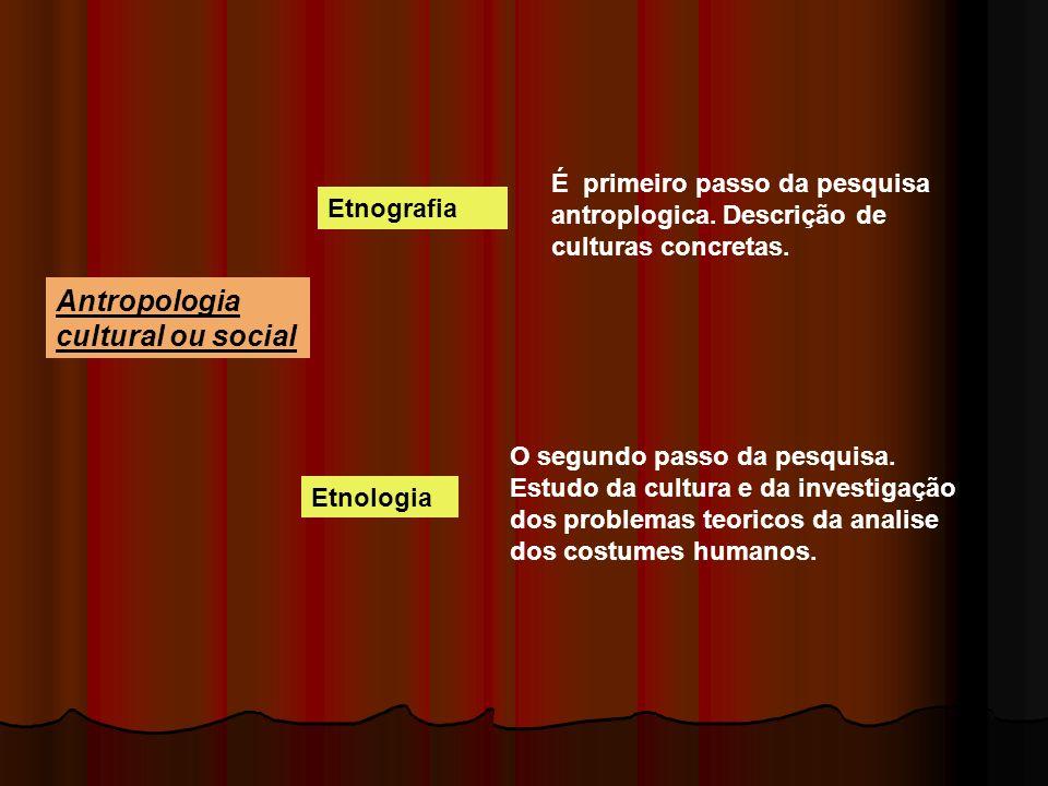 Antropologia cultural ou social