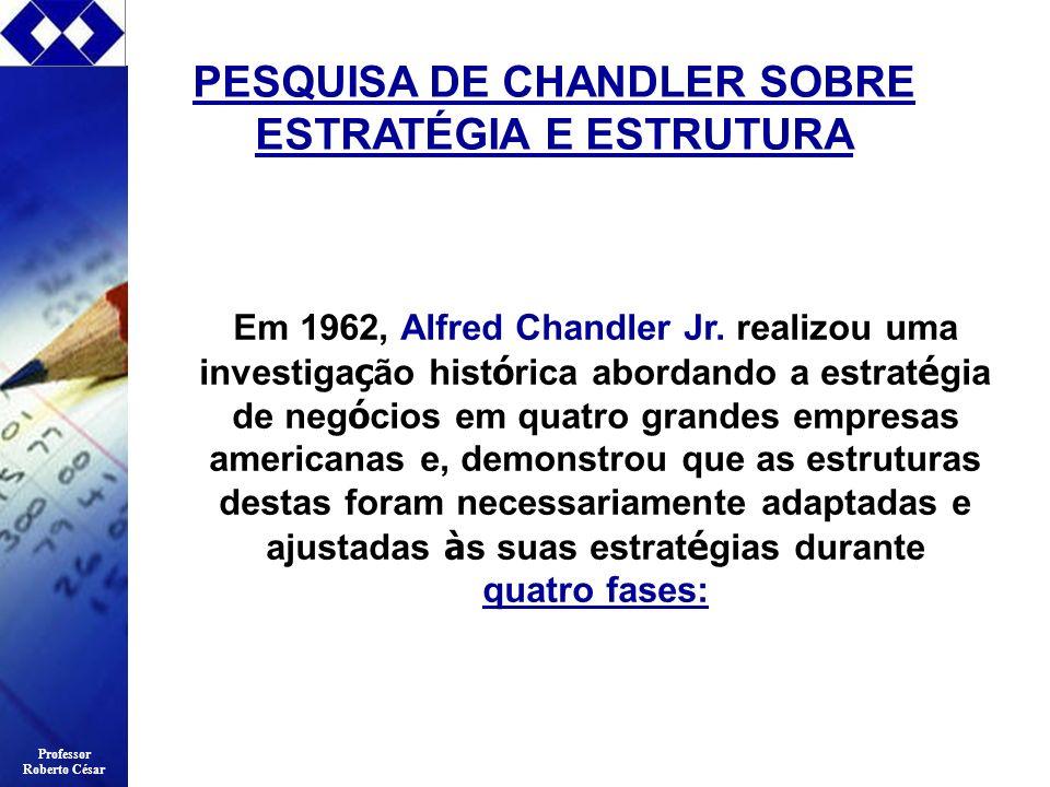 PESQUISA DE CHANDLER SOBRE ESTRATÉGIA E ESTRUTURA