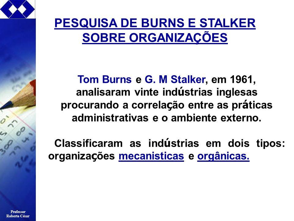 PESQUISA DE BURNS E STALKER SOBRE ORGANIZAÇÕES
