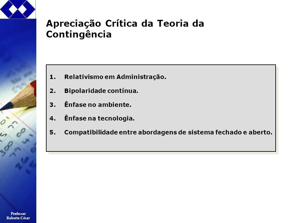 Apreciação Crítica da Teoria da Contingência