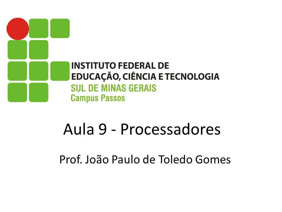 Prof. João Paulo de Toledo Gomes