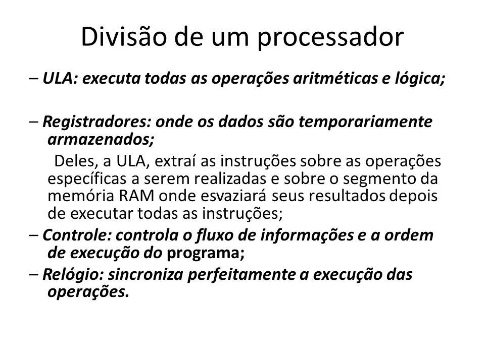 Divisão de um processador