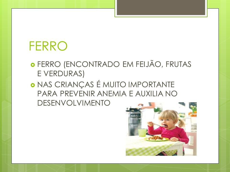 FERRO FERRO (ENCONTRADO EM FEIJÃO, FRUTAS E VERDURAS)