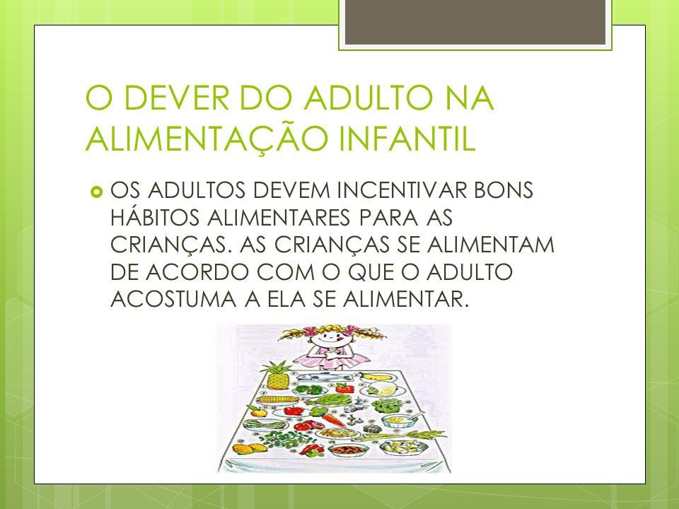 O DEVER DO ADULTO NA ALIMENTAÇÃO INFANTIL