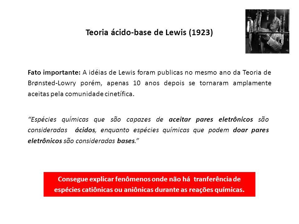 Teoria ácido-base de Lewis (1923)
