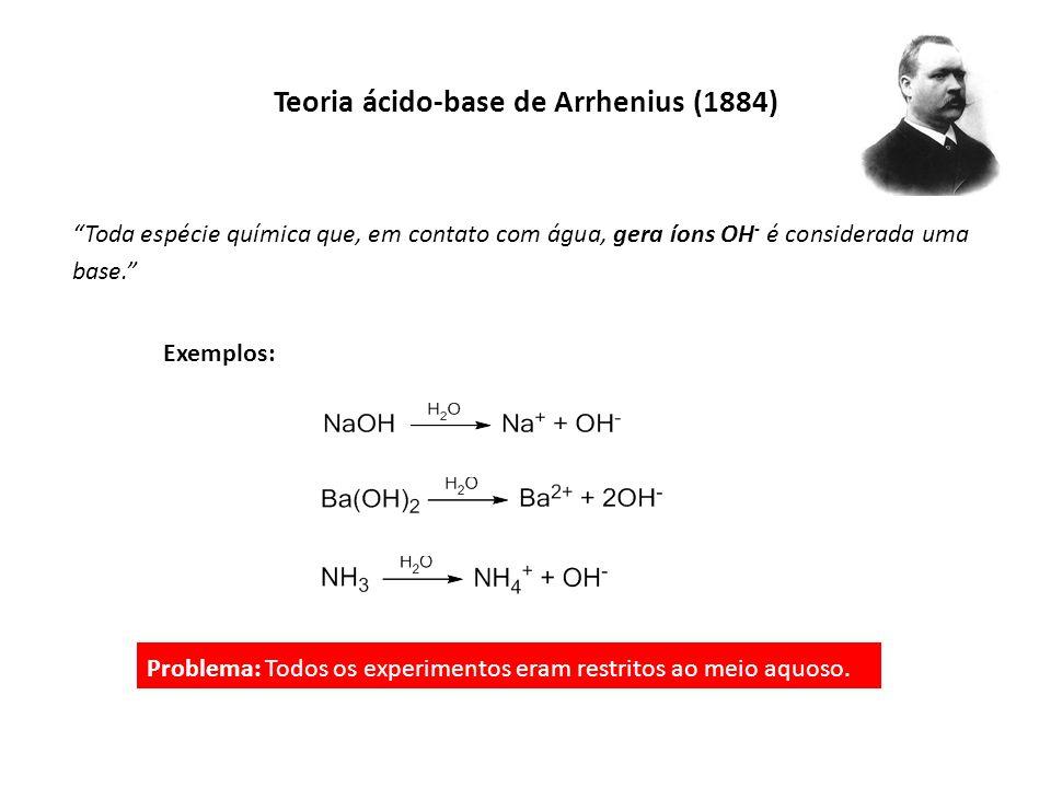 Teoria ácido-base de Arrhenius (1884)
