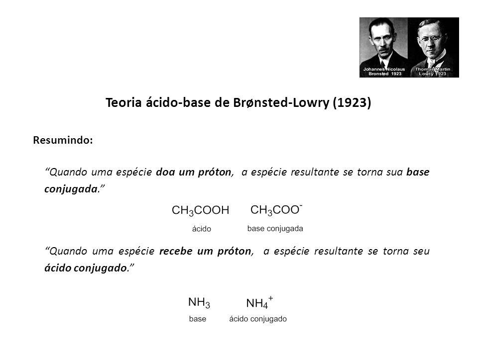 Teoria ácido-base de Brønsted-Lowry (1923)