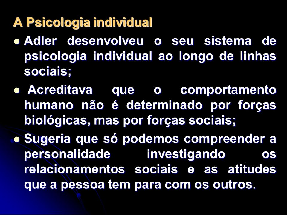 A Psicologia individual