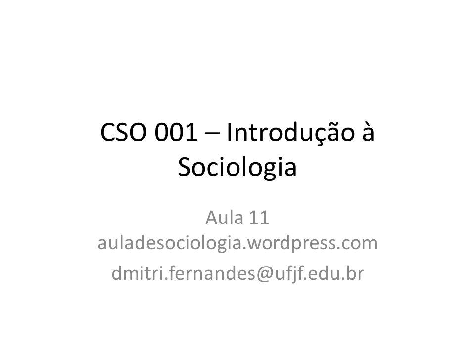 CSO 001 – Introdução à Sociologia