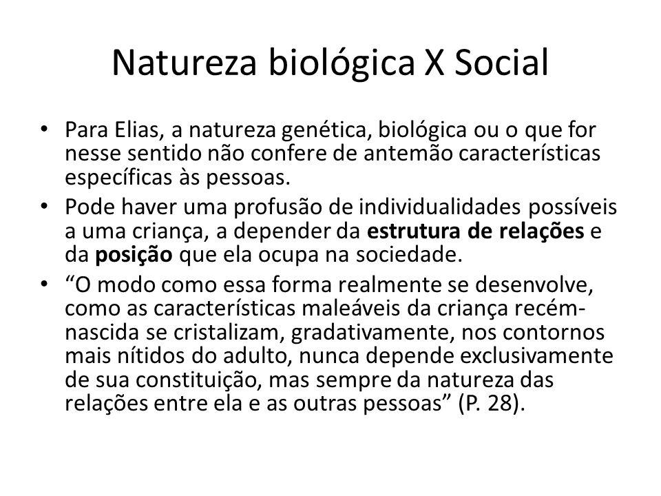 Natureza biológica X Social