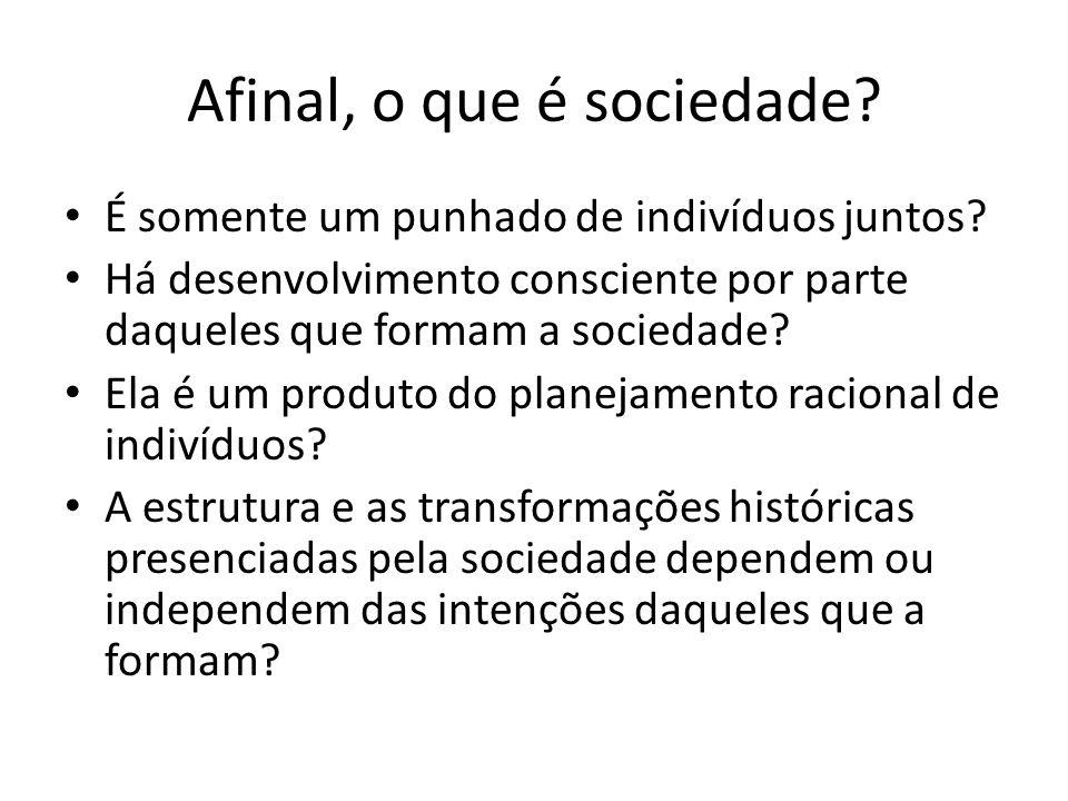 Afinal, o que é sociedade