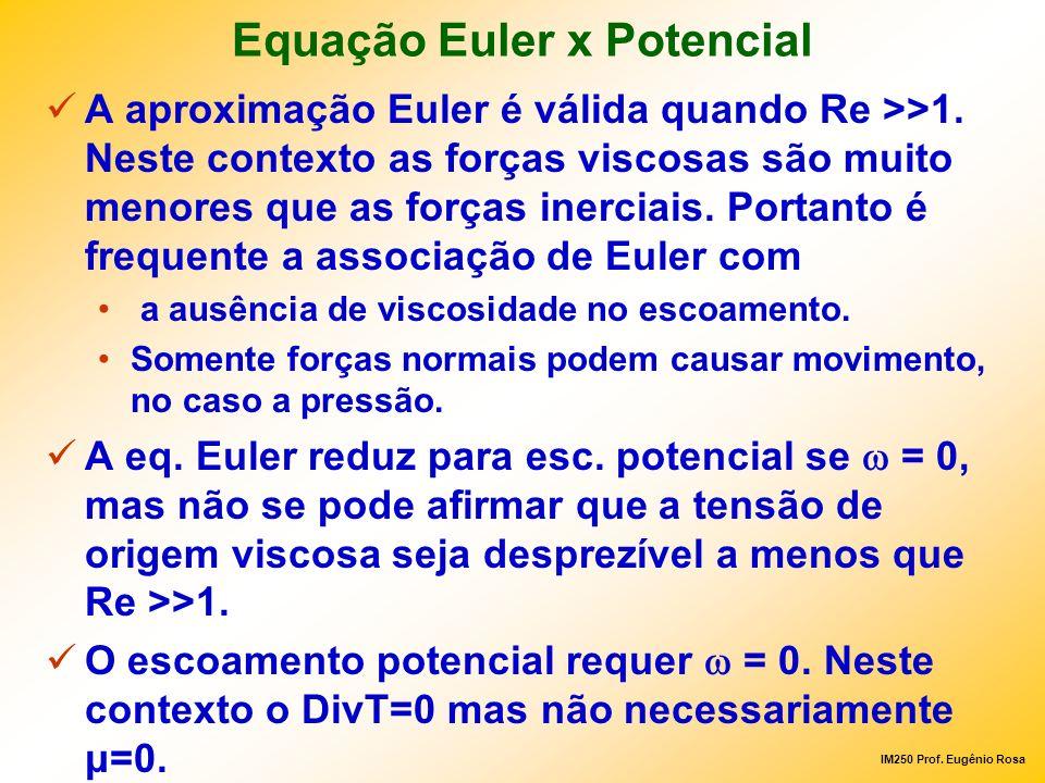 Equação Euler x Potencial