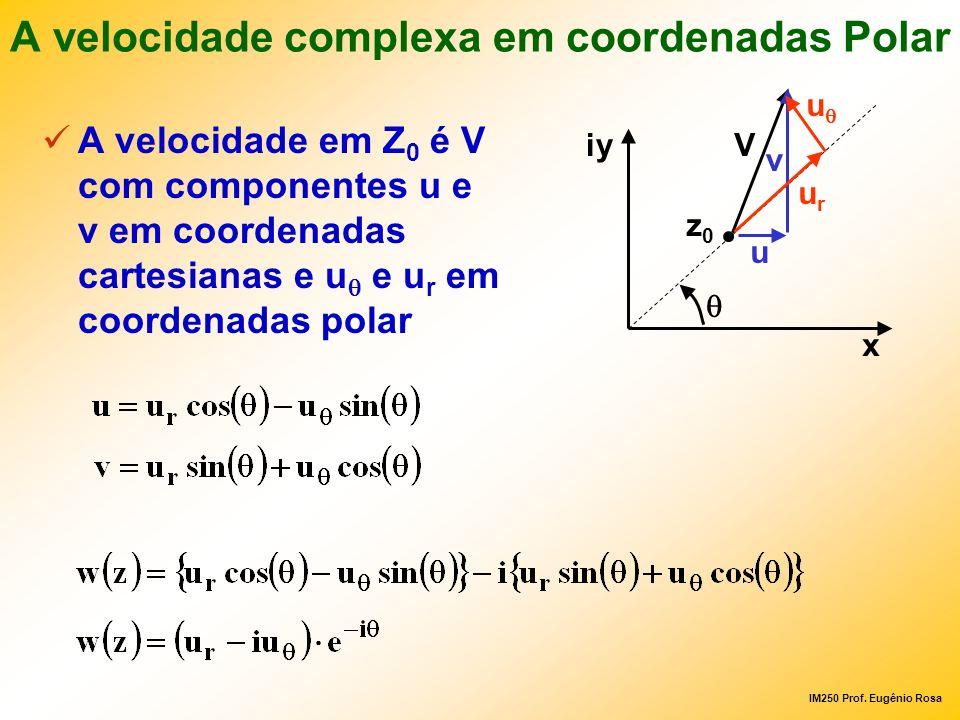 A velocidade complexa em coordenadas Polar
