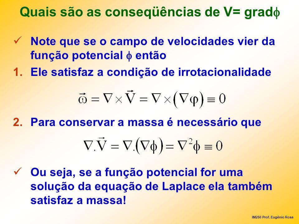 Quais são as conseqüências de V= gradf
