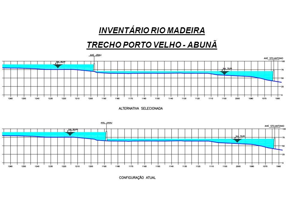 INVENTÁRIO RIO MADEIRA TRECHO PORTO VELHO - ABUNÃ