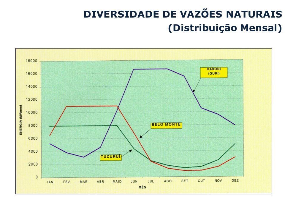 DIVERSIDADE DE VAZÕES NATURAIS