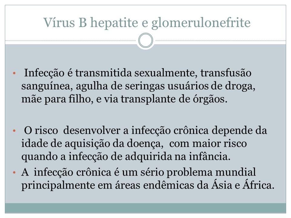 Vírus B hepatite e glomerulonefrite