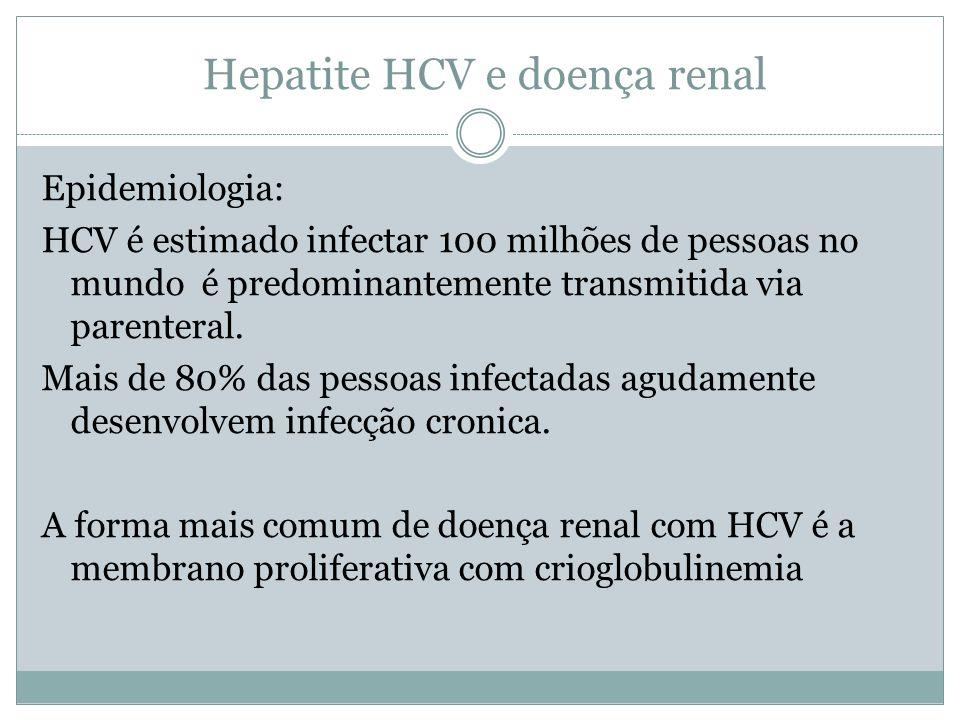 Hepatite HCV e doença renal