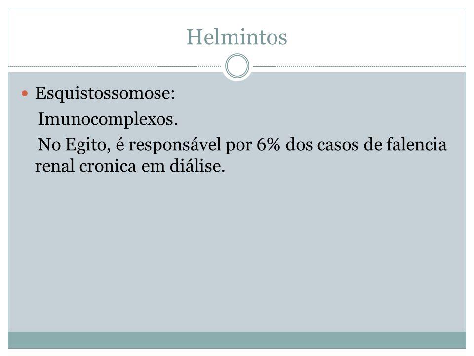 Helmintos Esquistossomose: Imunocomplexos.