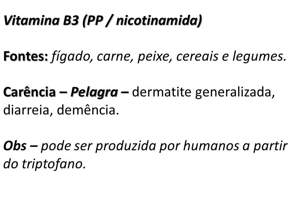 Vitamina B3 (PP / nicotinamida)