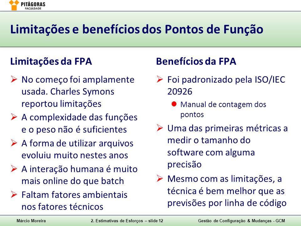 Limitações e benefícios dos Pontos de Função
