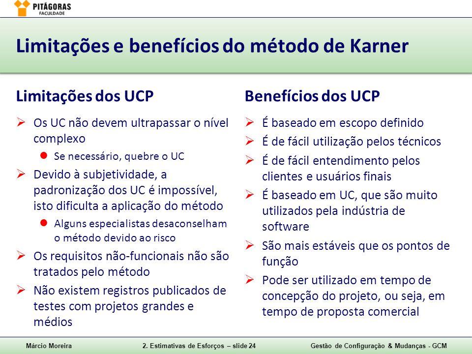 Limitações e benefícios do método de Karner