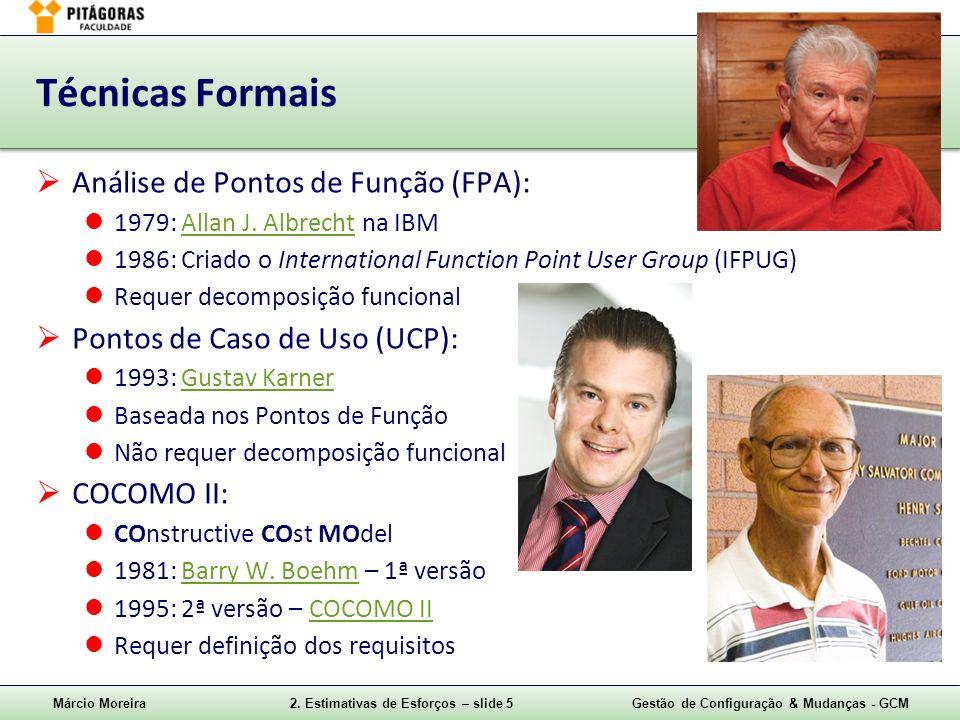 Técnicas Formais Análise de Pontos de Função (FPA):